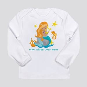 Blond Mermaid Long Sleeve T-Shirt