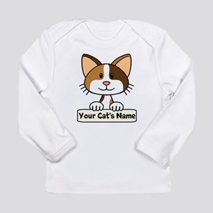 Personalized Calico Cat Long Sleeve Infant T-Shirt