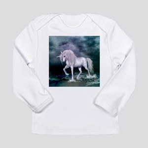 Wonderful unicorn on the beach Long Sleeve T-Shirt