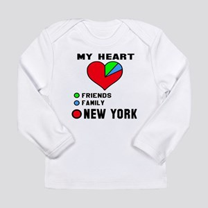 My Heart Friends, Famil Long Sleeve Infant T-Shirt