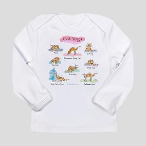 aa74bf987 Cat YOGA POSES Long Sleeve Infant T-Shirt