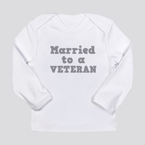 94193972 Married to a Veteran Long Sleeve Infant T-Shirt