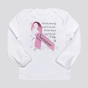 Breast Cancer Survivor Long Sleeve Infant T-Shirt