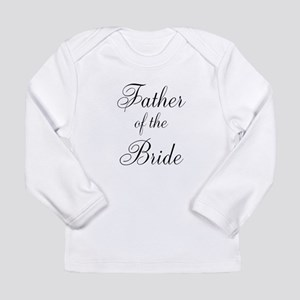 Father of the Bride Black Scr Long Sleeve Infant T