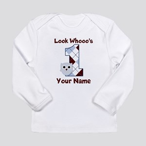Look Whoo's 1 Boys Long Sleeve Infant T-Shirt