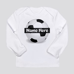 Personalized Soccer Ball Long Sleeve Infant T-Shir
