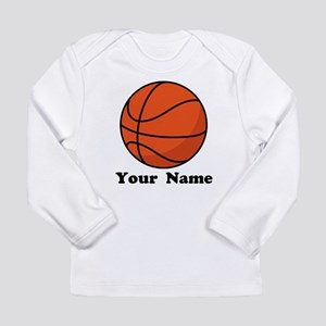 Personalized Basketball Long Sleeve Infant T-Shirt