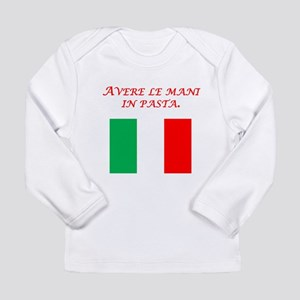 Italian Proverb Finger In The Pie Long Sleeve Infa
