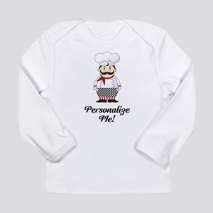Personalized French Chef Long Sleeve Infant T-Shir