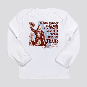 Davys Gone To Texas Long Sleeve T-Shirt