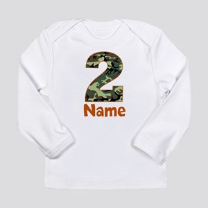 2nd Birthday Camo Long Sleeve T-Shirt