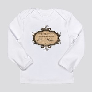 50th Wedding Aniversary (Rustic) Long Sleeve Infan