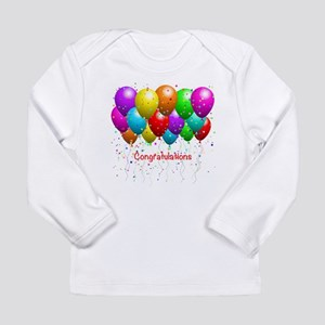Congratulations Balloons Long Sleeve T-Shirt