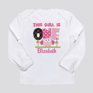 4862bc34 Personalized Girls 1st Birthday Owl Long Sleeve T-