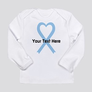 Personalized Light Blue Long Sleeve Infant T-Shirt