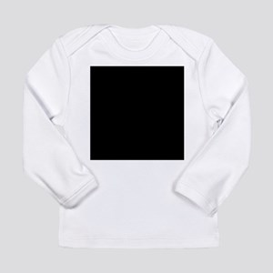 Black solid color Long Sleeve T-Shirt