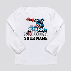 Captain America Super S Long Sleeve Infant T-Shirt