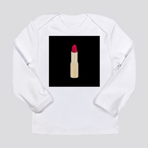 189c0290c Red Lipstick on Black Long Sleeve T-Shirt