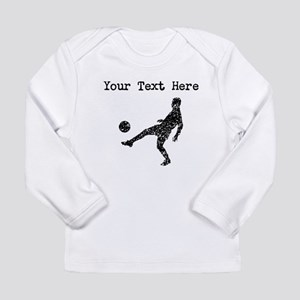 Distressed Soccer Player Silhouette (Custom) Long