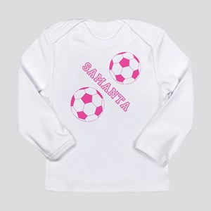 Soccer Girl Personalized Long Sleeve T-Shirt