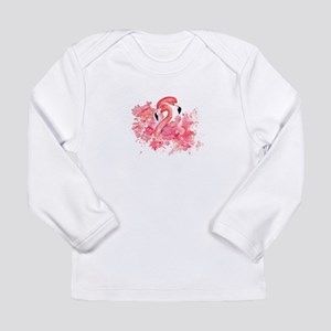 Tropical birds Flamingo in LOV Long Sleeve T-Shirt