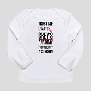 Greys Anatomy trust me black Long Sleeve T-Shirt