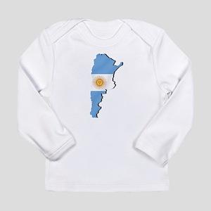 Argentina Flag Map Long Sleeve Infant T-Shirt