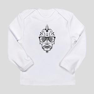 barbershop punk skull Long Sleeve T-Shirt
