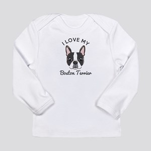 I Love My Boston Terrie Long Sleeve Infant T-Shirt