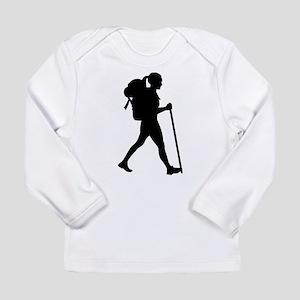 Hiking girl woman Long Sleeve T-Shirt