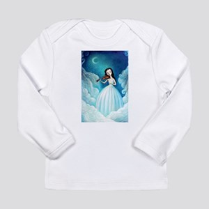 Girl with Moon and Violin Long Sleeve Infant T-Shi