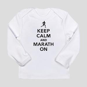 Keep calm and Marathon Long Sleeve Infant T-Shirt