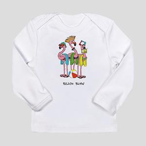 Flamingo Beach Bums Long Sleeve T-Shirt