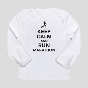 Keep calm and run Marat Long Sleeve Infant T-Shirt
