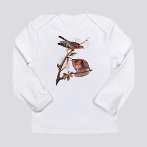 Red Shouldered Hawk Vintage Audubon Art Long Sleev