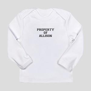 Property of ALLISON Long Sleeve T-Shirt