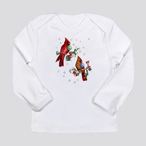 Two Christmas Birds Long Sleeve Infant T-Shirt