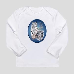 White Tigers Shirts Long Sleeve Infant T-Shirt