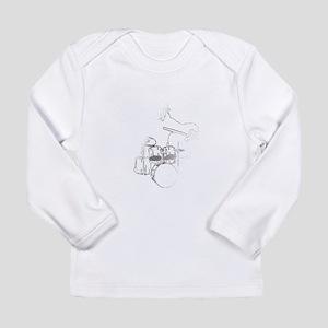 White Gorilla Long Sleeve Infant T-Shirt