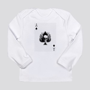 Ace of spade skull Long Sleeve T-Shirt