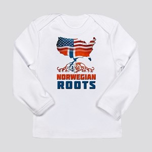 American Norwegian Roots Long Sleeve T-Shirt