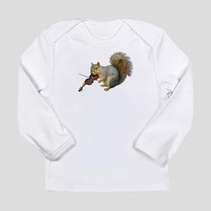 Squirrel Violin Long Sleeve Infant T-Shirt