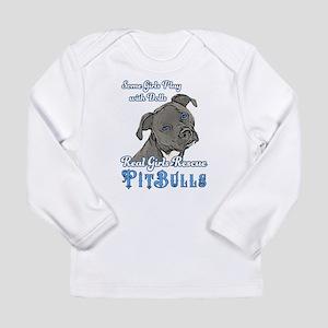 Real Girls Rescue Pitbulls Long Sleeve T-Shirt