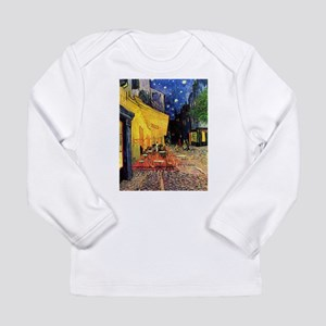 Cafe Terrace at Night by Vince Long Sleeve T-Shirt