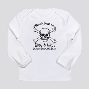Blackbeards grog and grub Long Sleeve Infant T-Shi