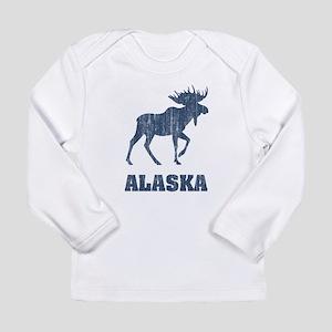 Retro Alaska Moose Long Sleeve Infant T-Shirt