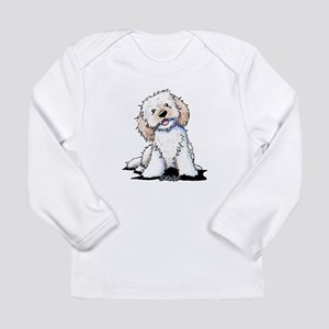 Smiling Doodle Puppy Long Sleeve Infant T-Shirt