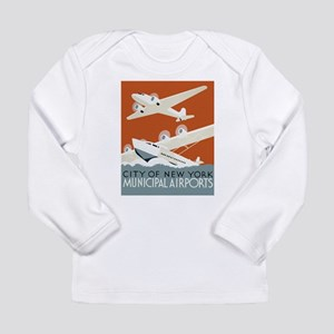 NYC airports Long Sleeve Infant T-Shirt