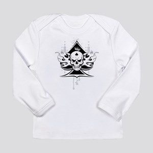 ace of spades skull Long Sleeve Infant T-Shirt