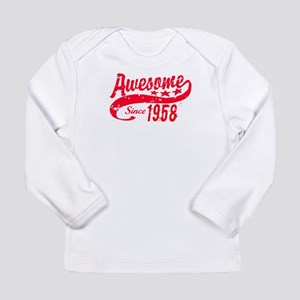 Awesome Since 1958 60 Years Ol Long Sleeve T-Shirt